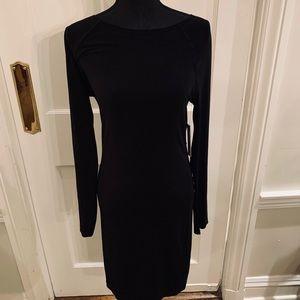 Stretchy dress w sheer mesh back